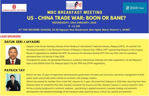 Co-Hosted Event: Breakfast Meeting - US - China Trade War: Boon or Bane?