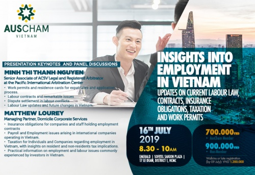 Co-hosted Event: Insights into Employment in Vietnam – Updates on current Labour Law, Contracts, Insurance obligations, Taxation and Work Permits
