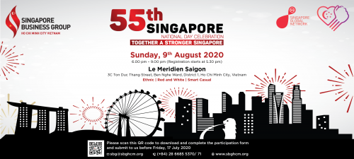 55TH SINGAPORE NATIONAL DAY CELEBRATION – TOGETHER A STRONGER SINGAPORE