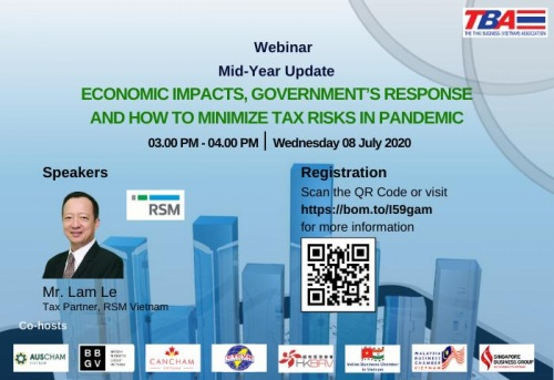 CO-HOSTED WEBINAR: [TBA] TBA - RSM WEBINAR: ECONOMIC IMPACTS, GOVERNMENT'S RESPONSE AND HOW TO MINIMIZE TAX RISKS IN PANDEMIC
