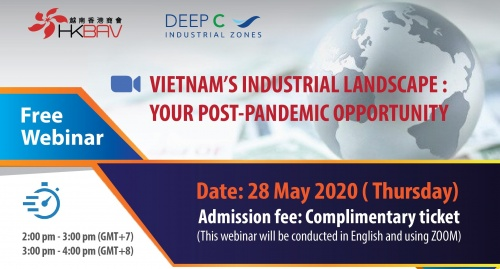 CO-HOSTED WEBINAR: [HKBAV] VIETNAM'S INDUSTRIAL LANDSCAPE: YOUR POST-PANDEMIC OPPORTUNITY